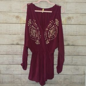 Free People Cold Shoulder Romper Size Extra Small